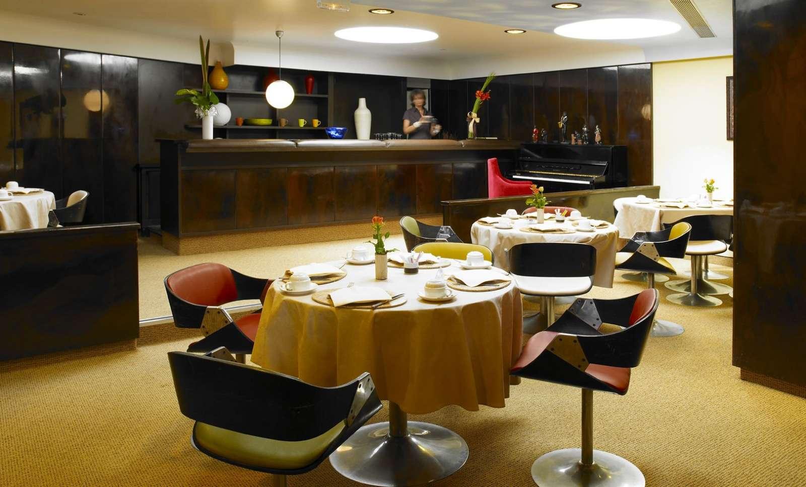 Morgenmadssalen i gennemført 70'er-stil