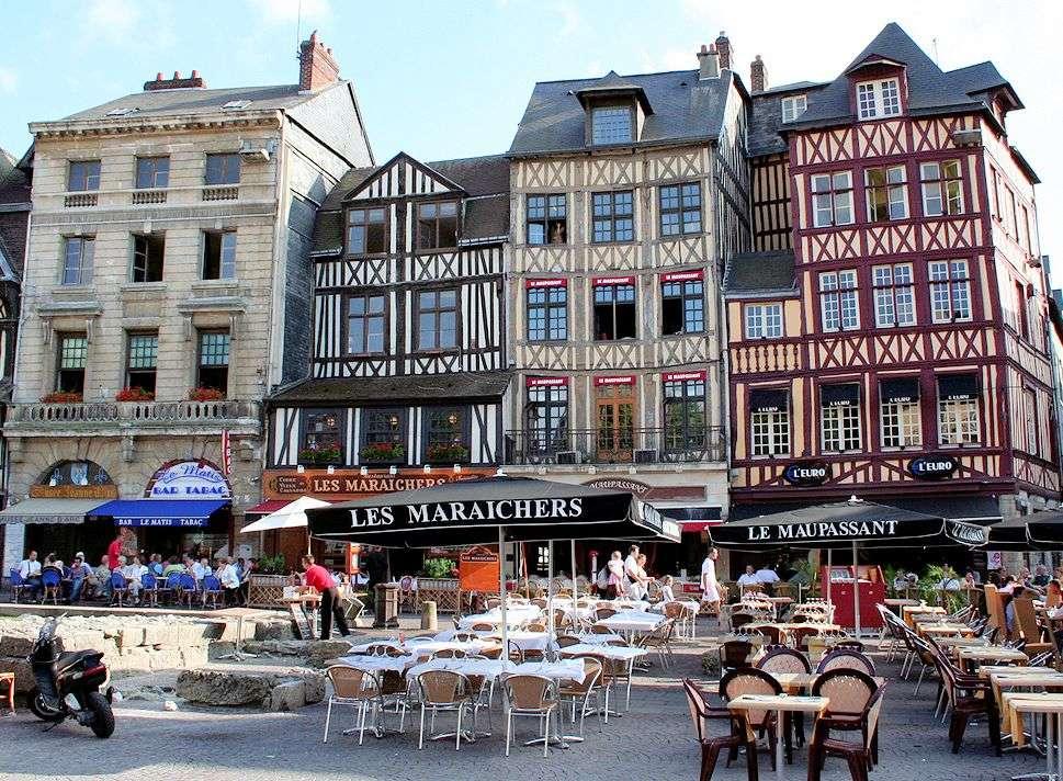Pladsen hvor Jeanne d'arc blev brændt