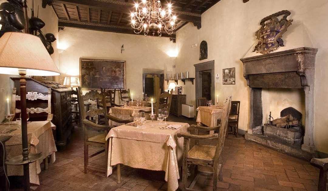 Restaurant in der antiken Villa