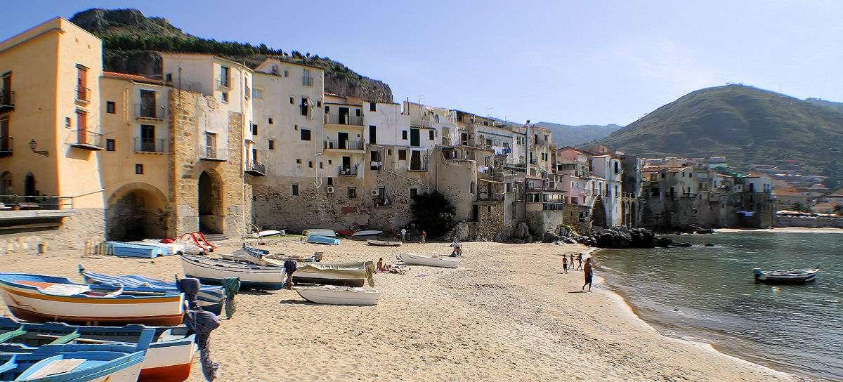 Stranden ved den gamle havn