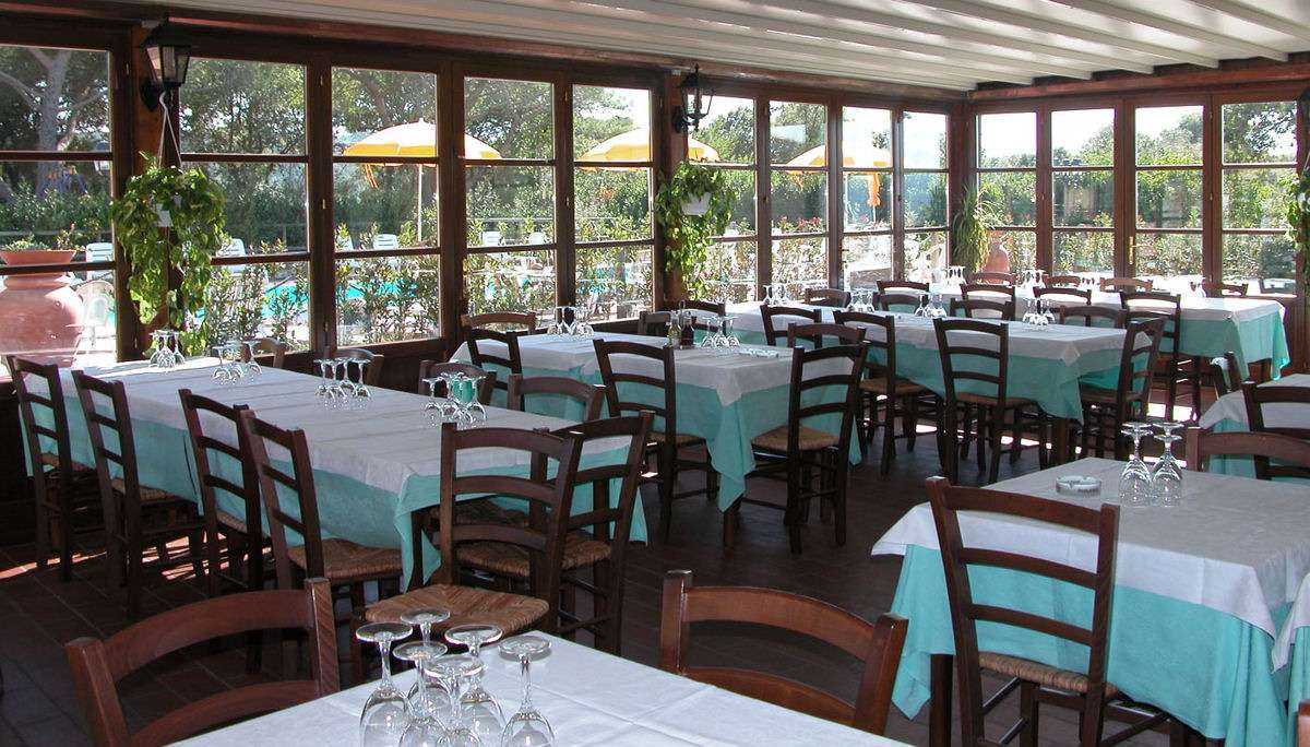 Restauranten ved pool