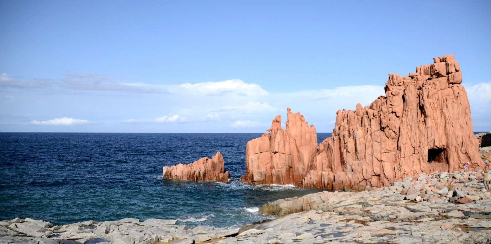 Felsformationen Rocce Rosse im Zentrum von Arbatax