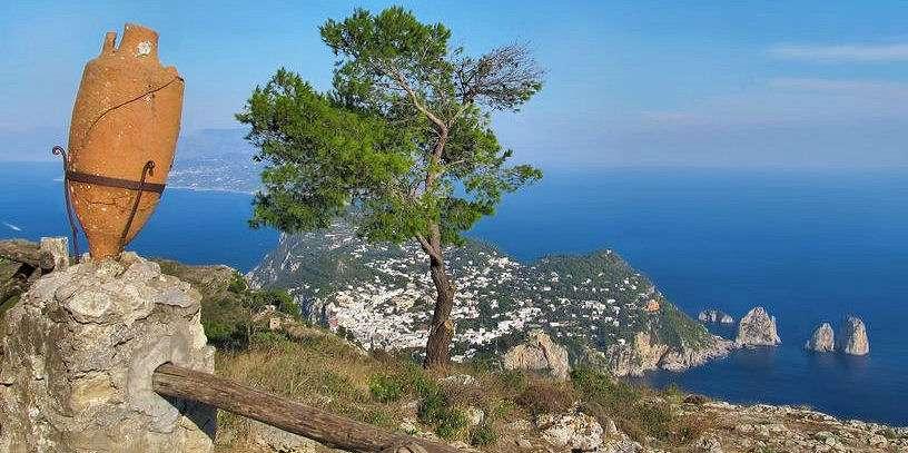 Udsigt fra Capri højeste punkt