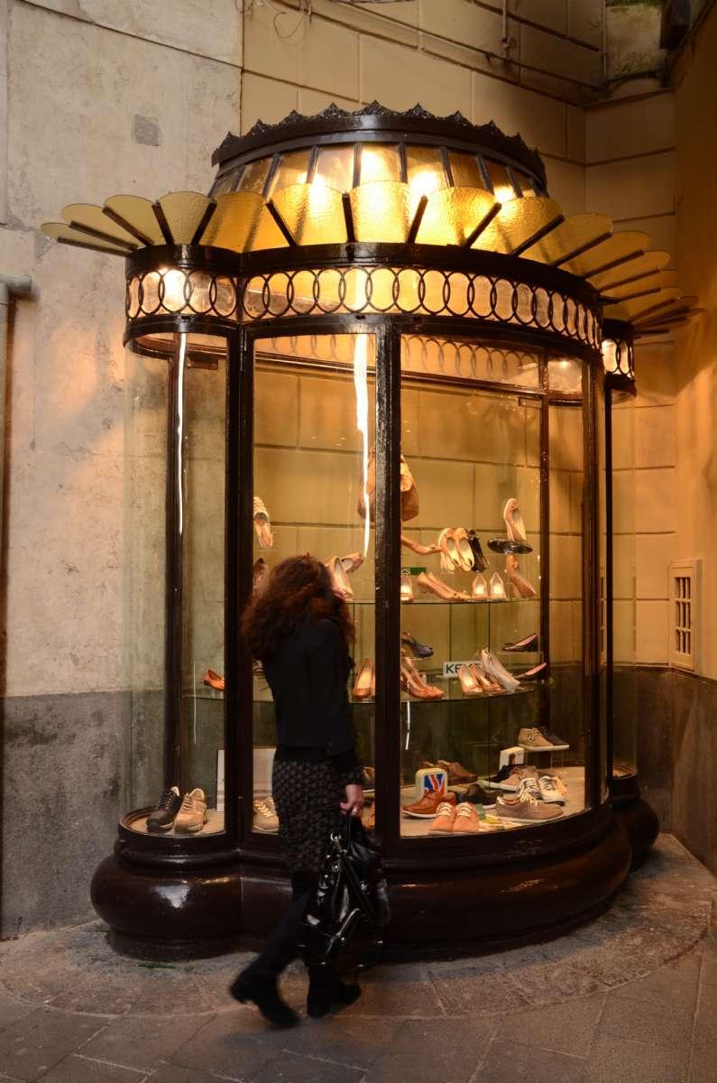 Une vitrine à Naples