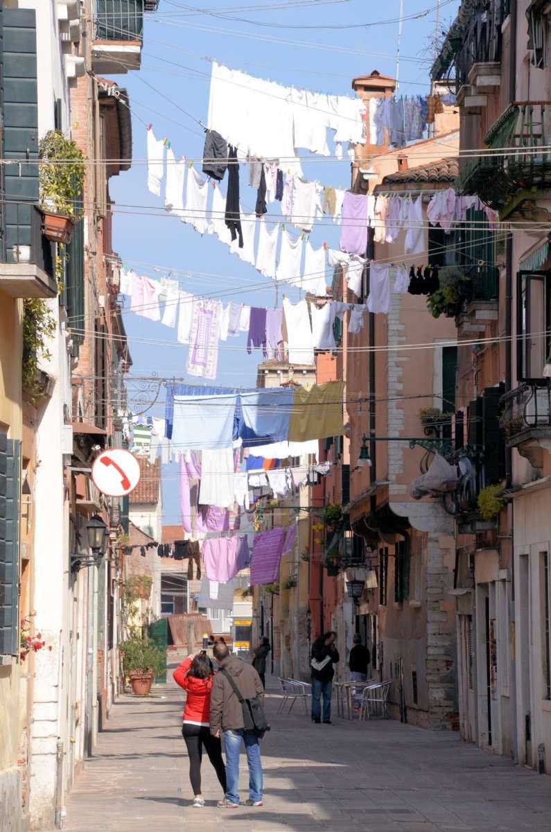 Straße im Stadtteil Castello