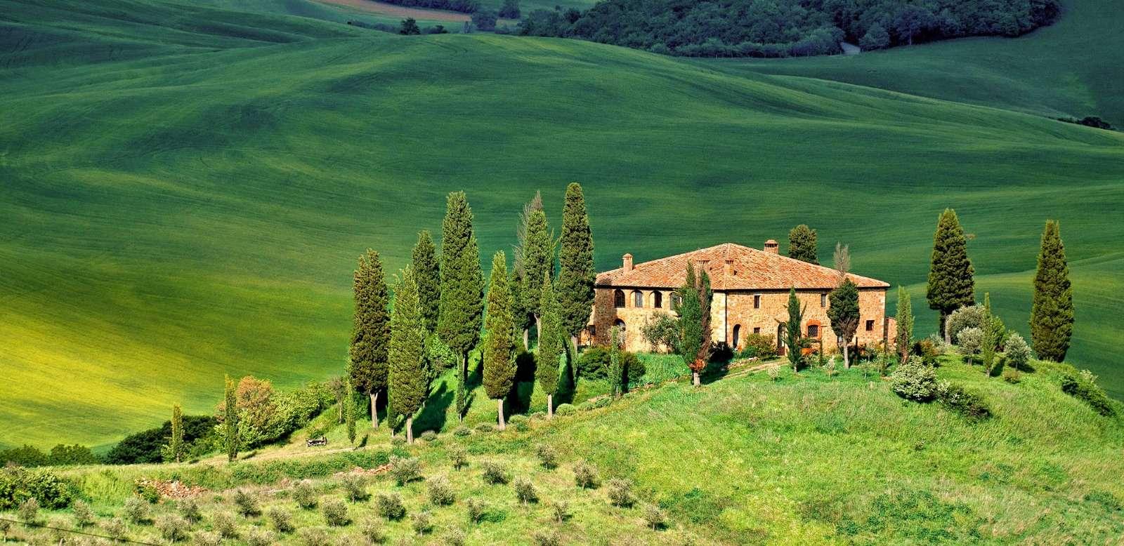 La célèbre campagne toscane