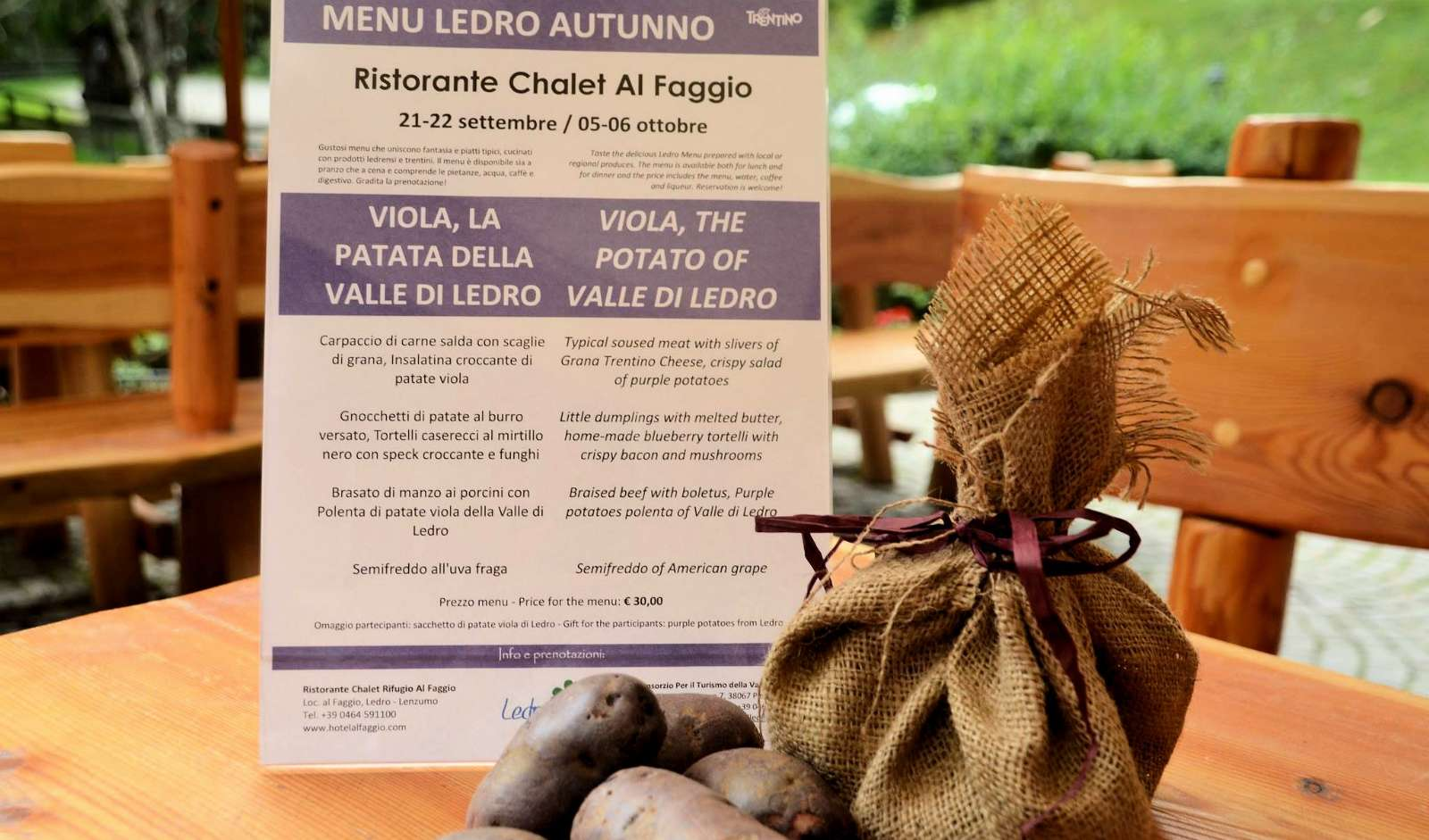 Prøv de lokale lilla kartofler