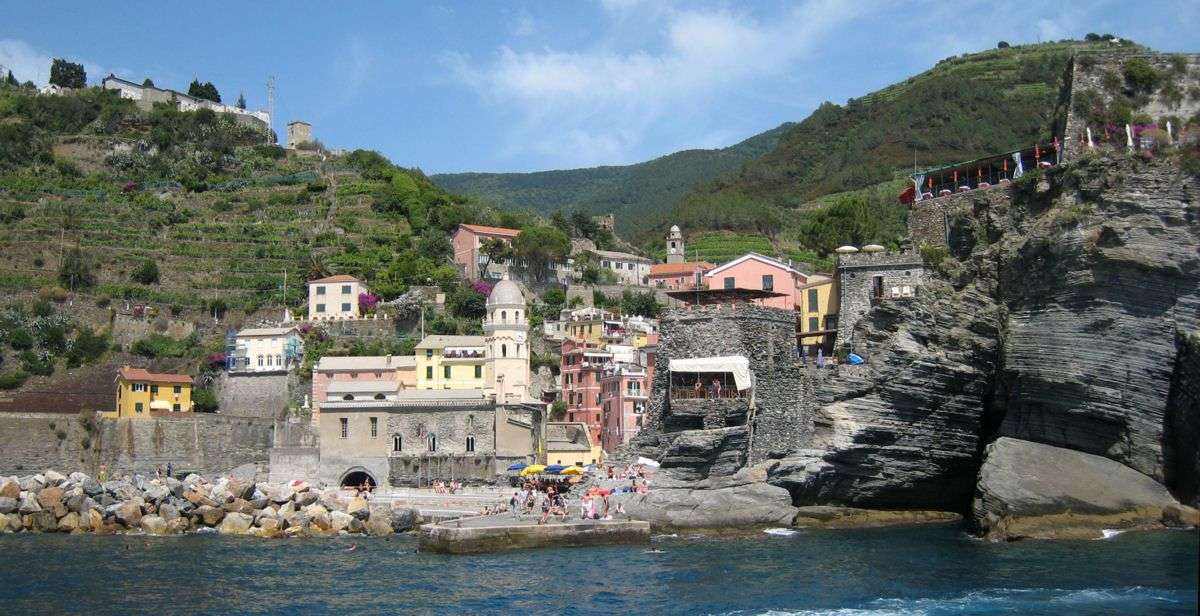 Vernazza set fra havet