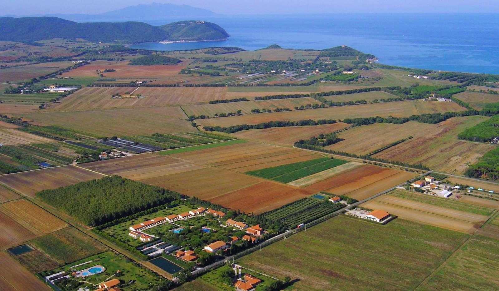 Området vid Ghiacci Vecchi från luften
