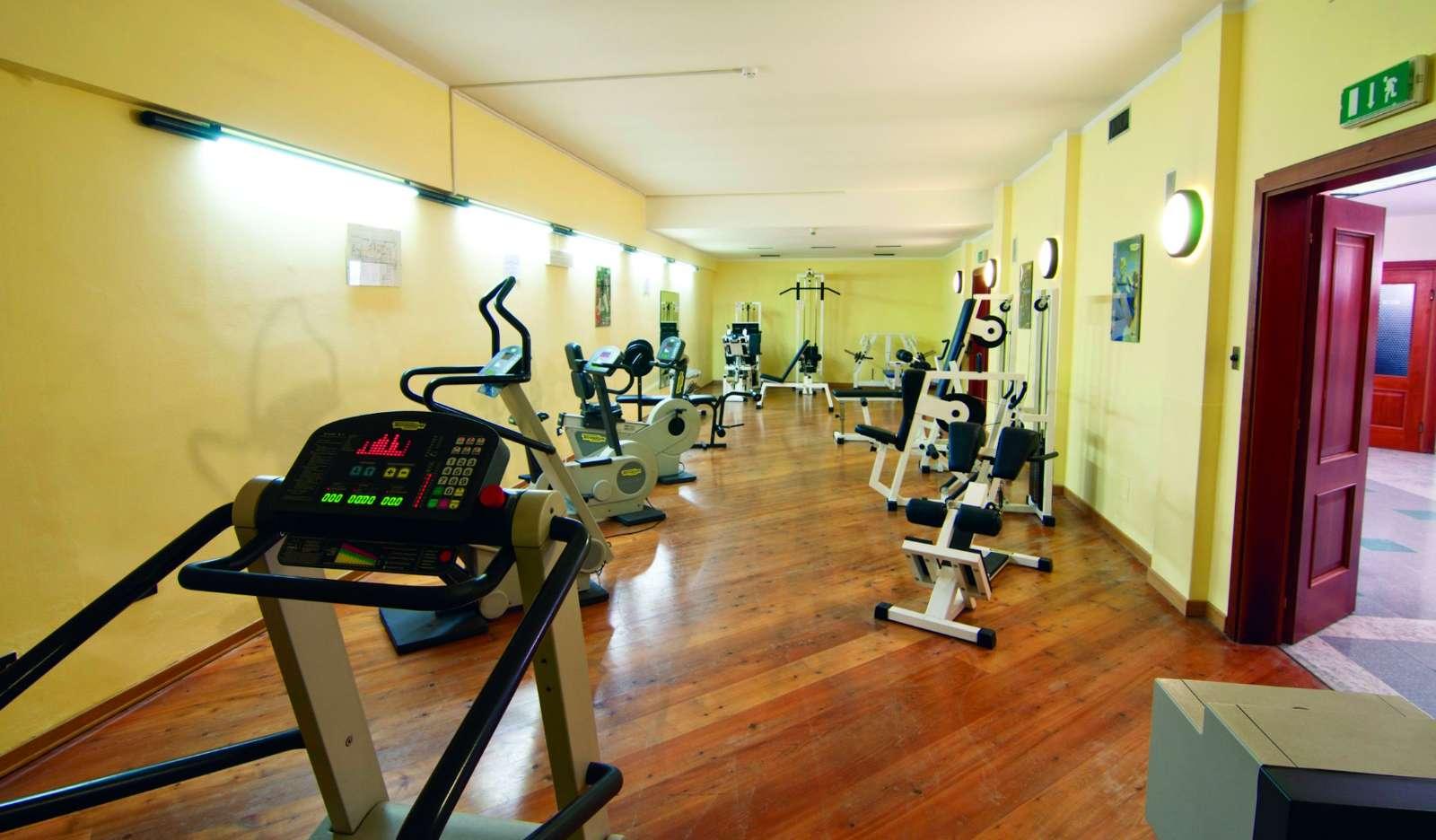 Fitness room på Parc Hotel Gritti