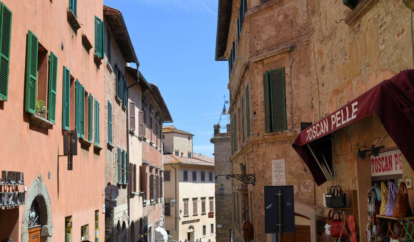 Gadebillede fra Montepulciano