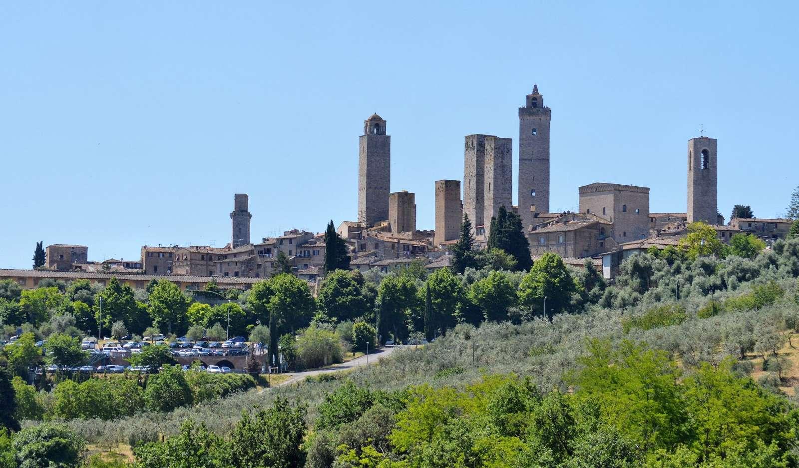 San Gimignano med de vackra tornen
