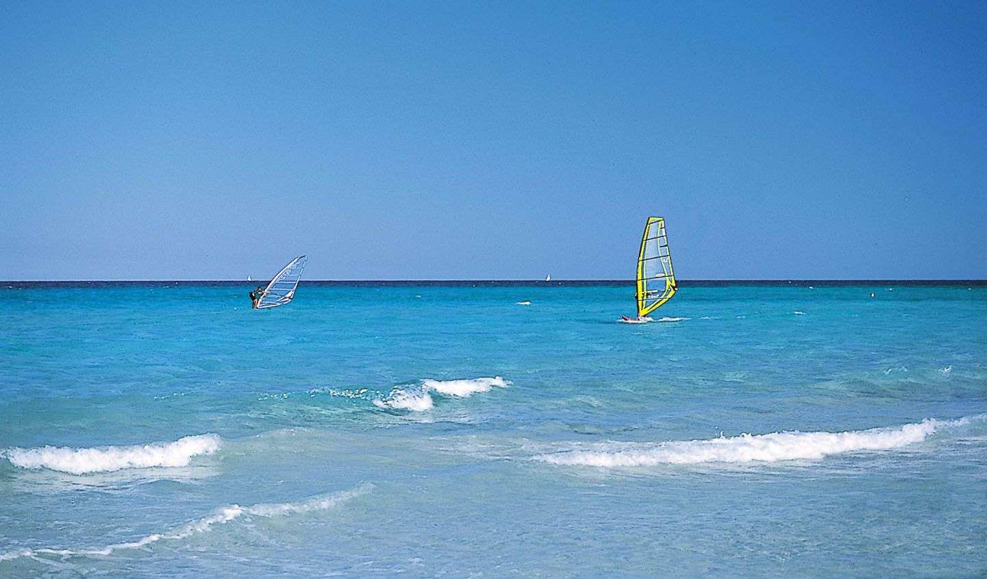 Et sandt paradis for windsurfere