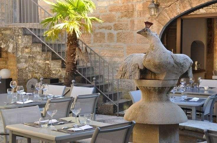 Restaurant på Hotel Mas du Terme