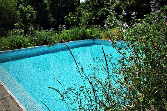 Pool på Le Petit Garros