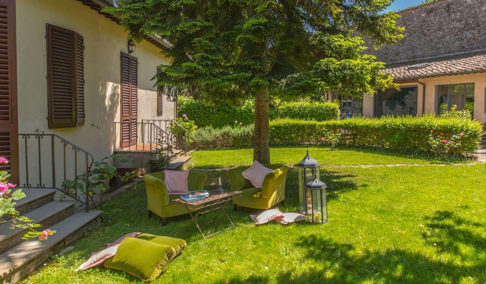 Garten der Wohnung Glicine