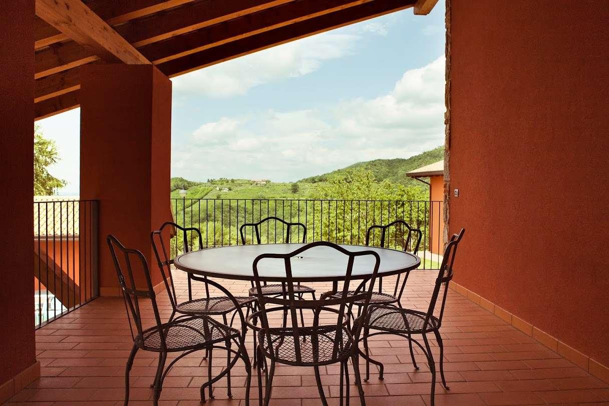 Terrassen till lägenheten Casa Sassi