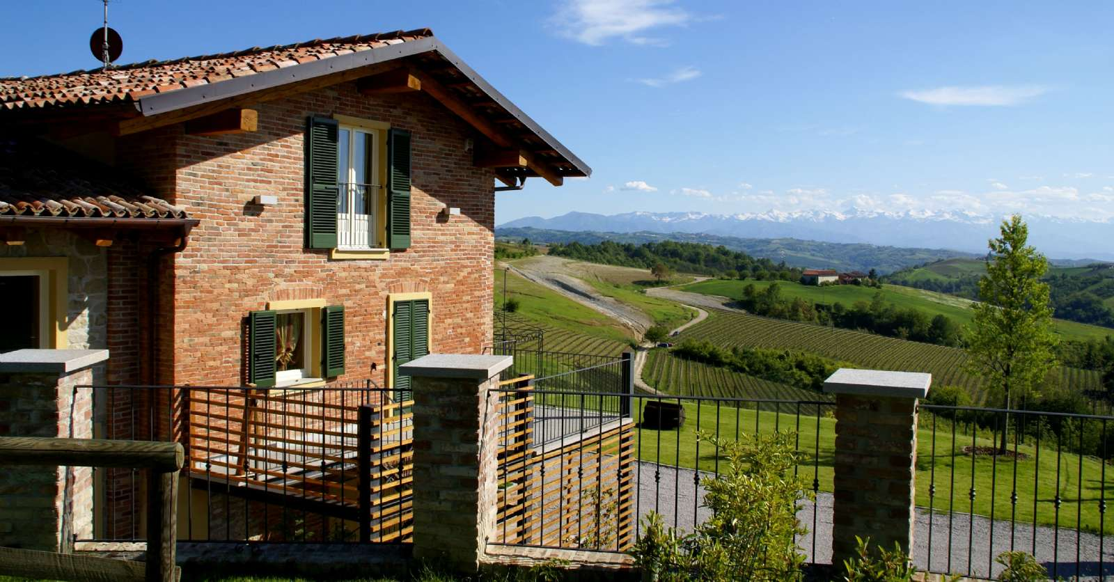Terrassen til lejligheden Sant'Anna
