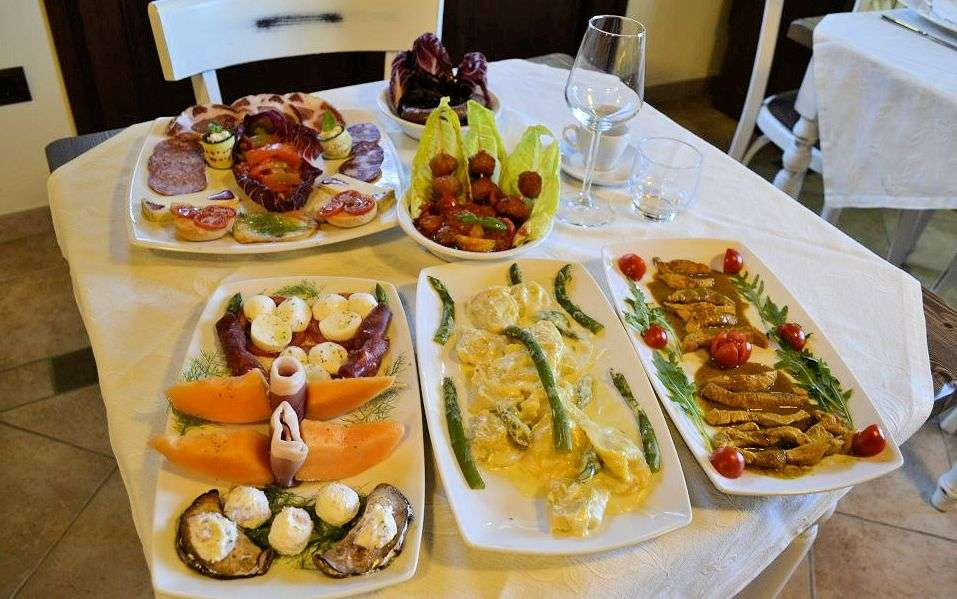 Restaurangen på Casale Il Tiglio