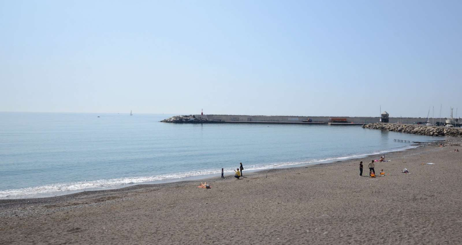 The beach in Lavagna