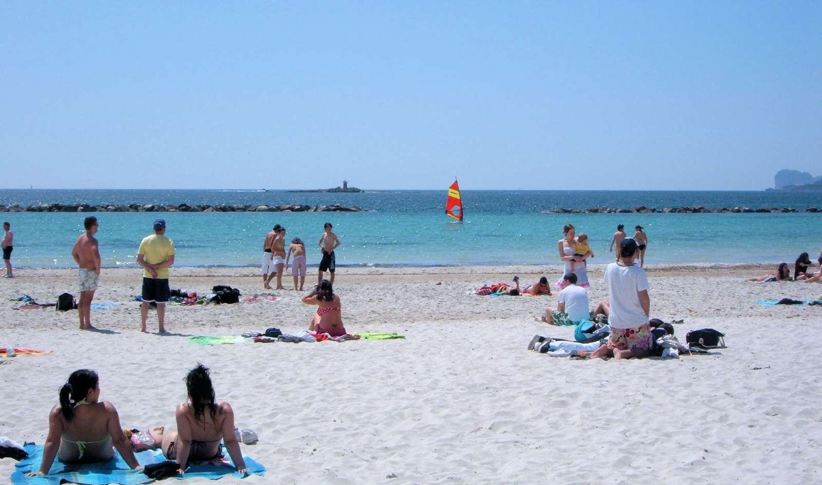 Lido'en, stranden lige ved Alghero