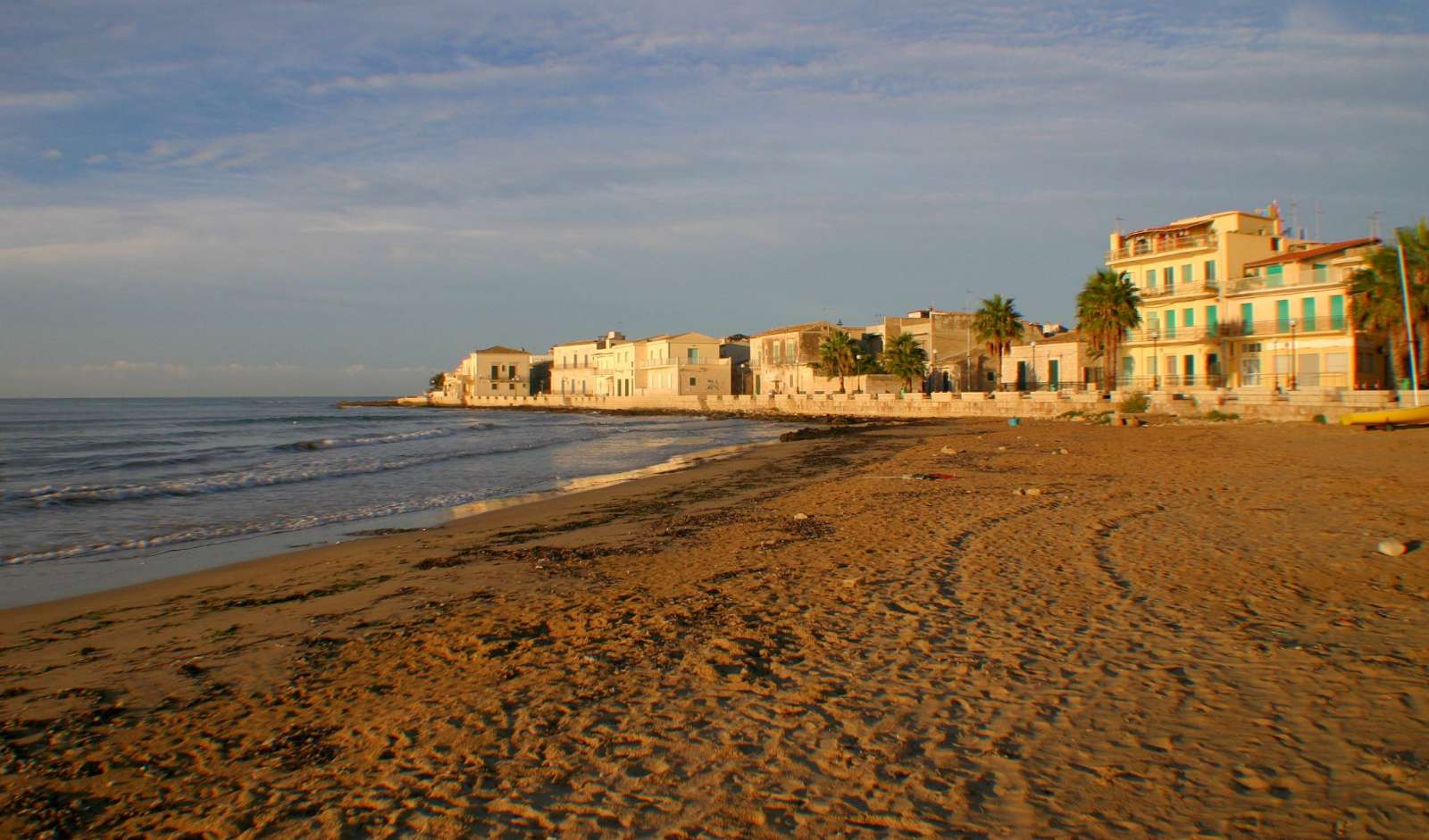 Stranden ved Casa delle Zie