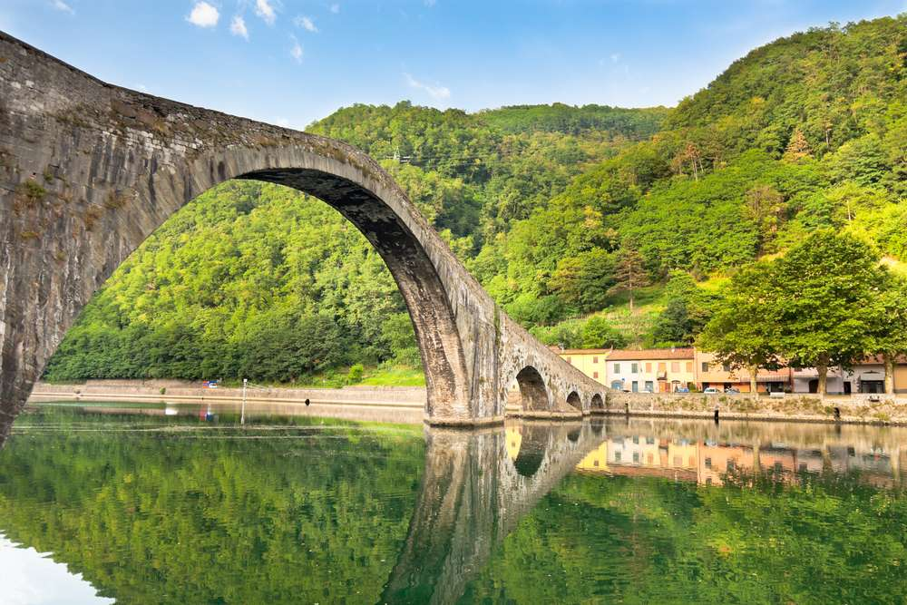 Ponte della Maddalena - also known as the Devil's Bridge