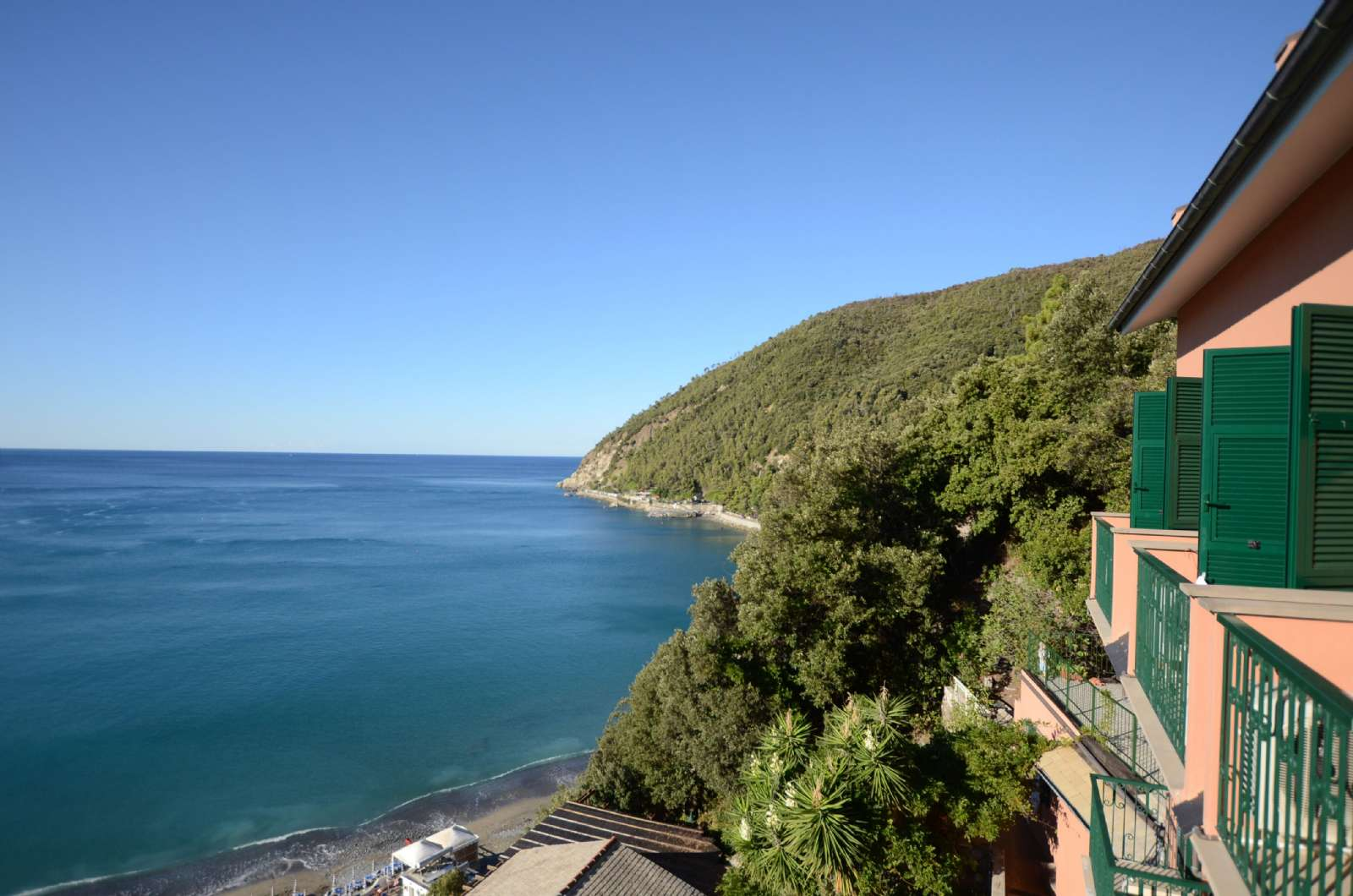 Utsikten från Hotel Leopold i Ligurien