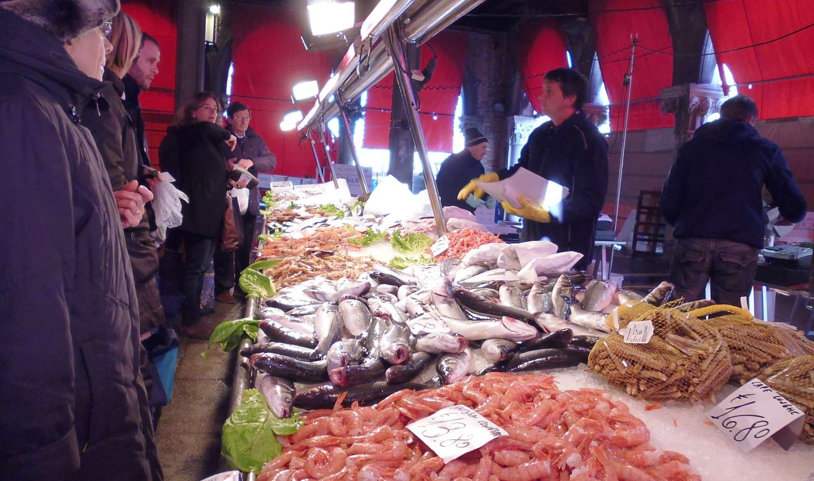 The fish market in Venice