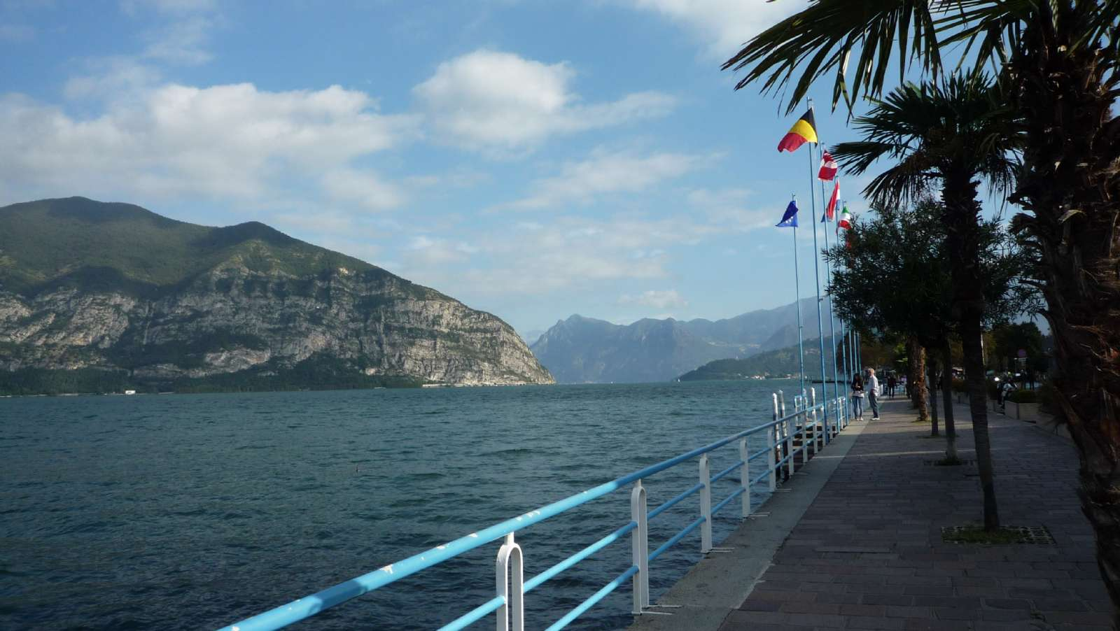 The promenade of Iseo town