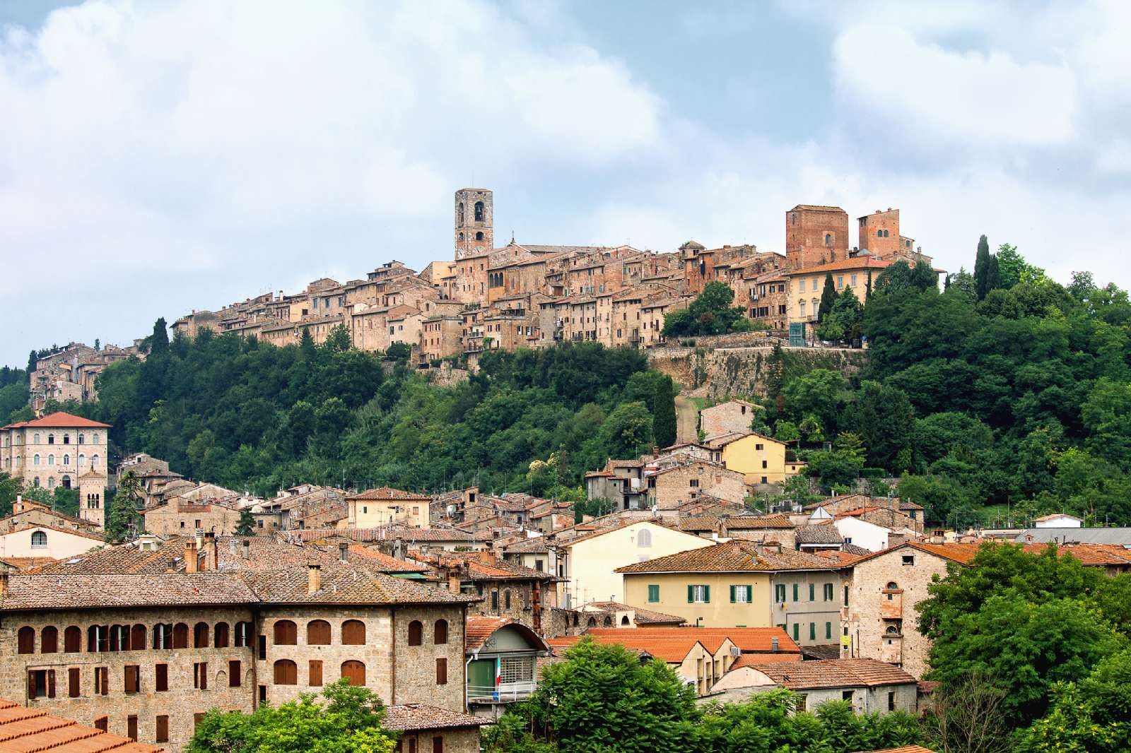 Views from the historic centre of Colle Val d'Elsa