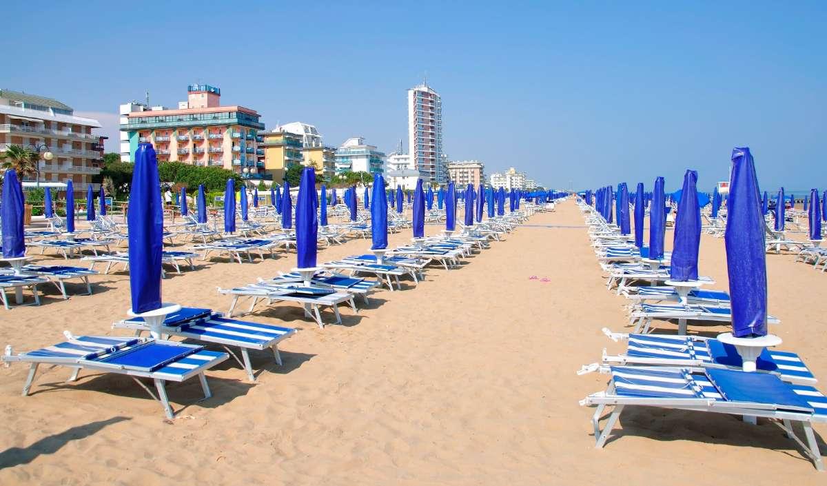 Clean fine sandy beach in Jesolo, near Venice