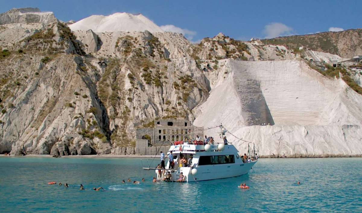 Sail out to the beaches on Lipari Island, north of Italy