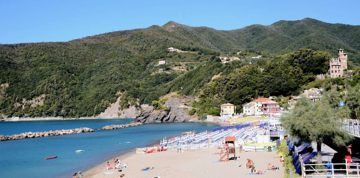 The seaside resort Moneglia