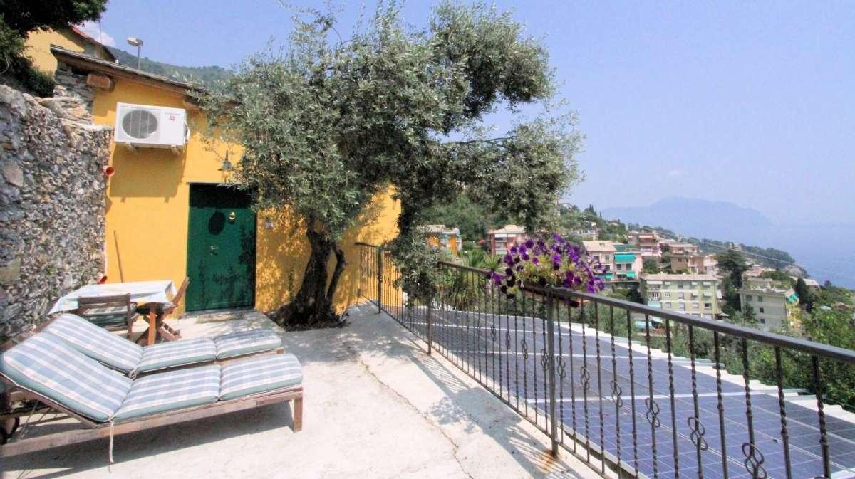 Privat terrasse til værelset Le Rose