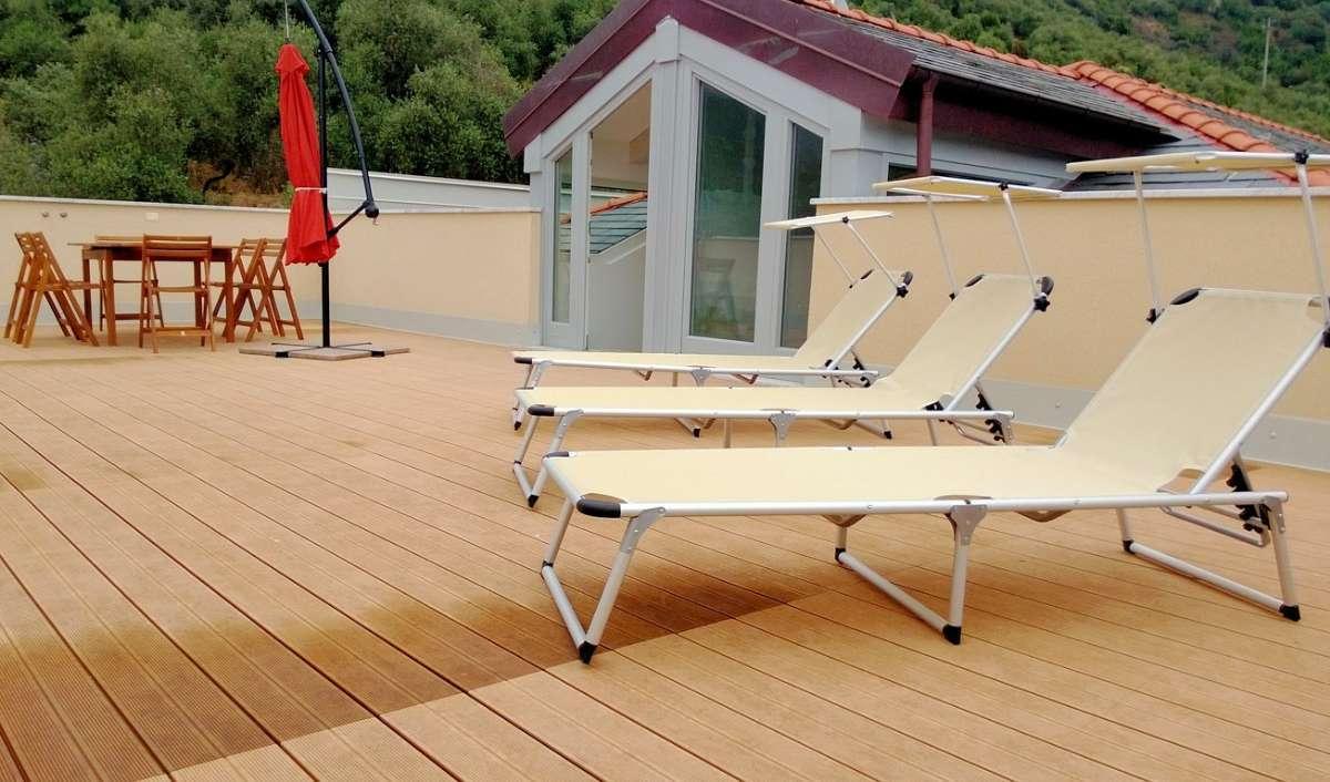 Terrasse til lejligheden B9