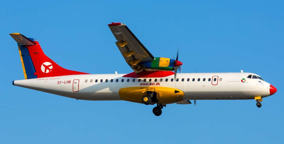 Res med flygbolaget DAT Danish Air Transport till Italien
