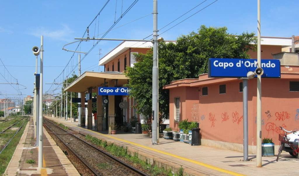Det lille og nyttige togstation i byen