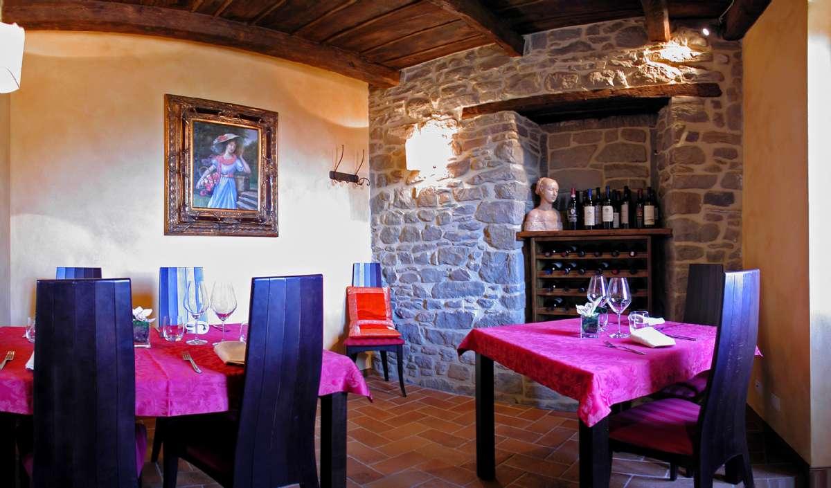 Et hjørne af byens restaurant Convivio dei Corsi