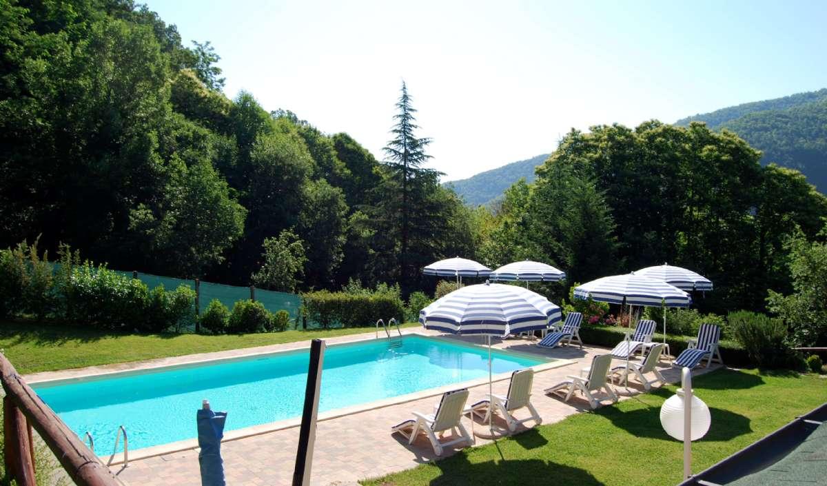 Den gode udsigt fra poolområdet