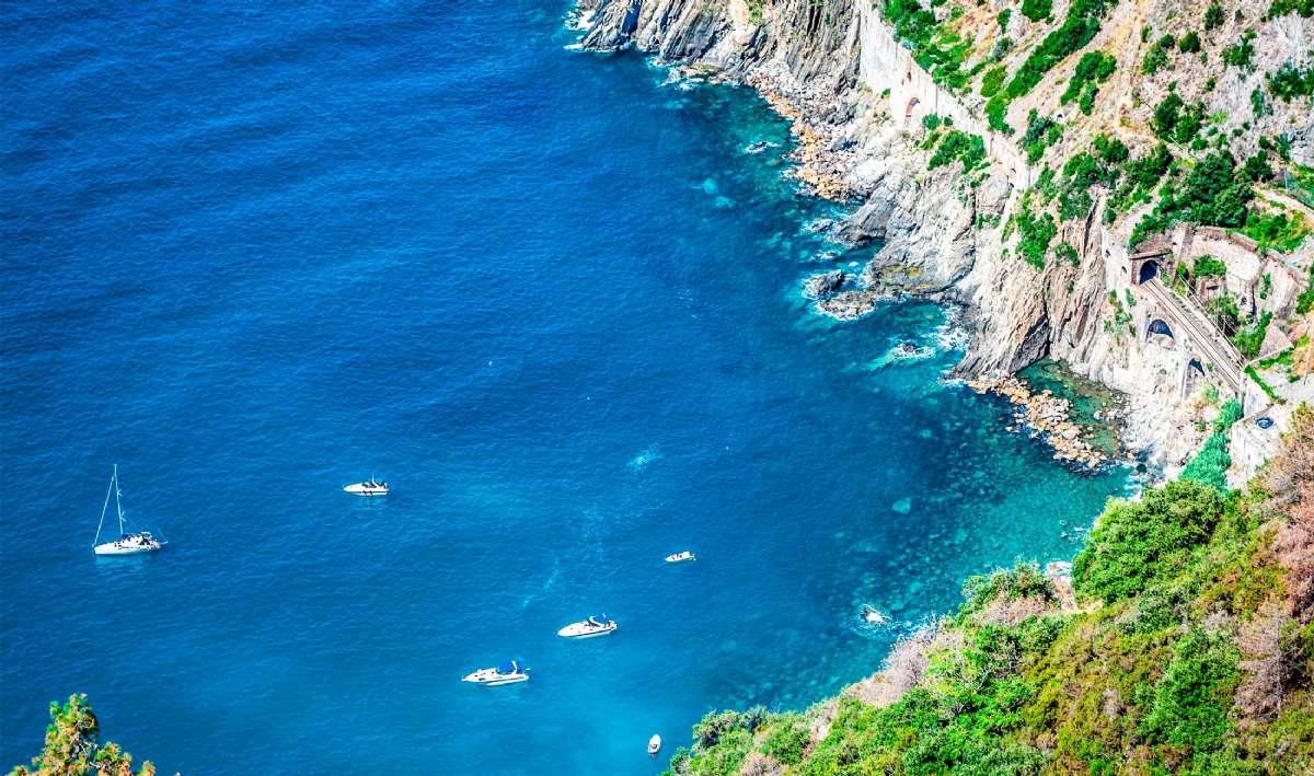 Riomaggiore-kustens klara vatten