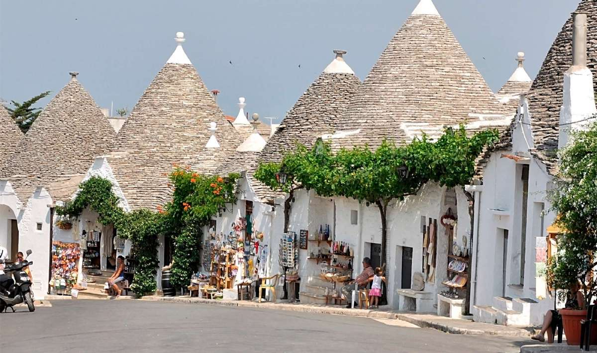 Shopping i Alberobello
