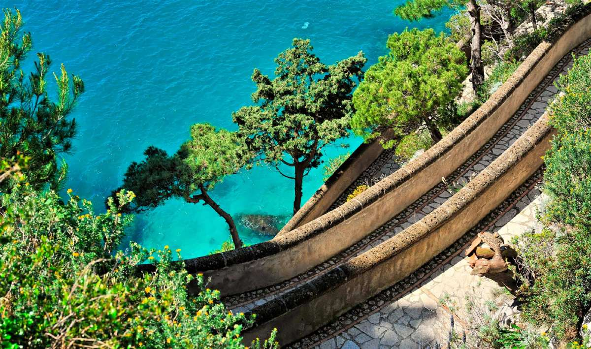 Den berømte Via Krupp på Capri