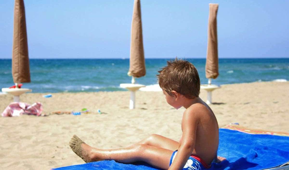 Strandhygge med barna