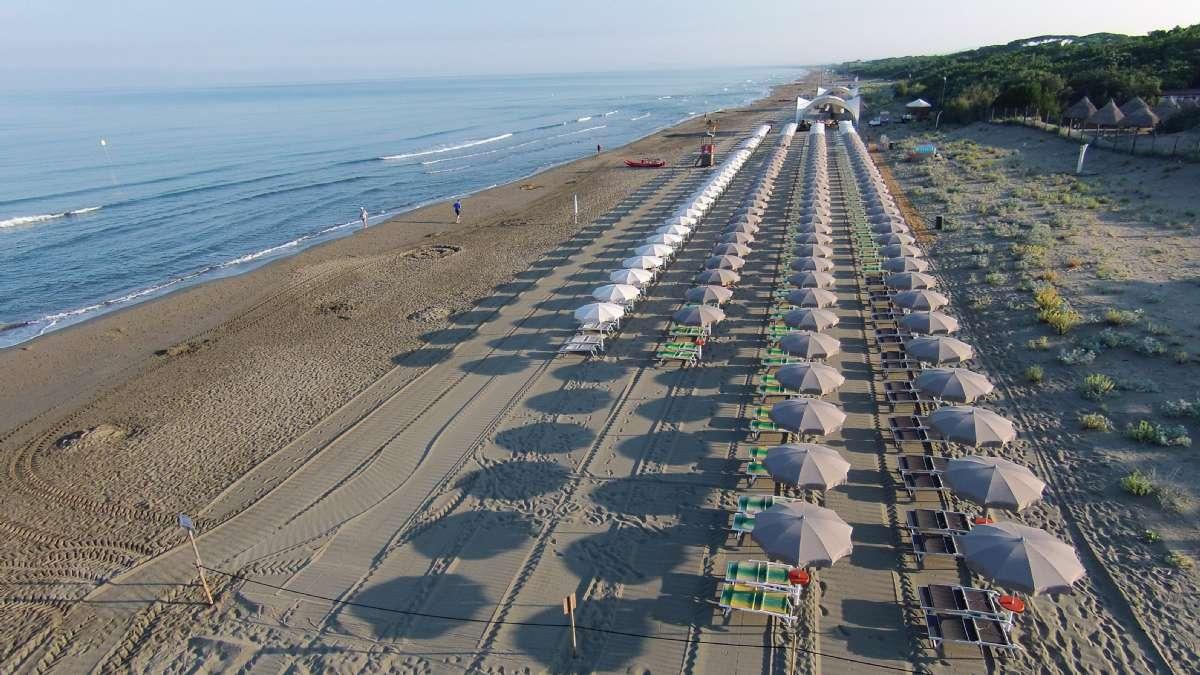 Castagneto Carducci ligger tæt på stranden
