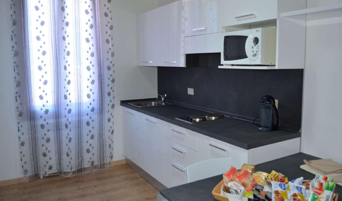 Exempel på kökshörna i Comfort Suite