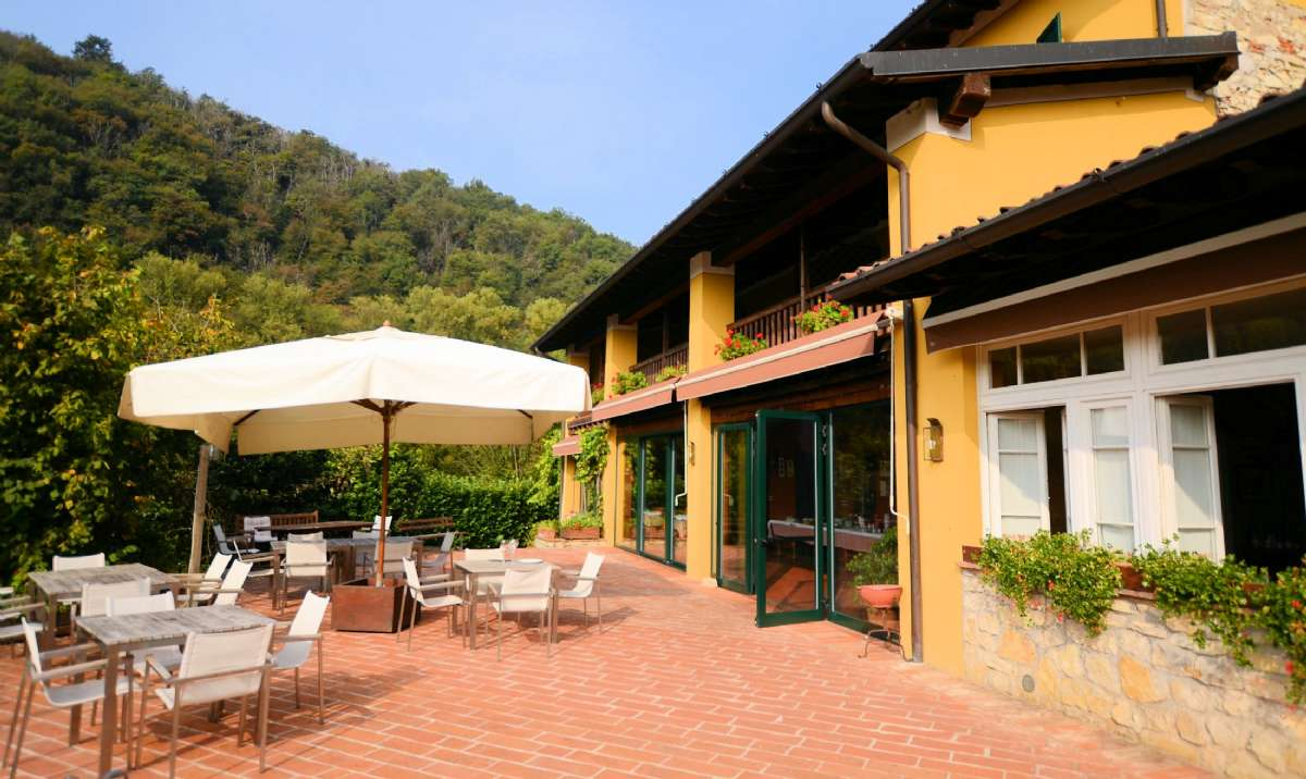 Die schöne Terrasse im Restaurant