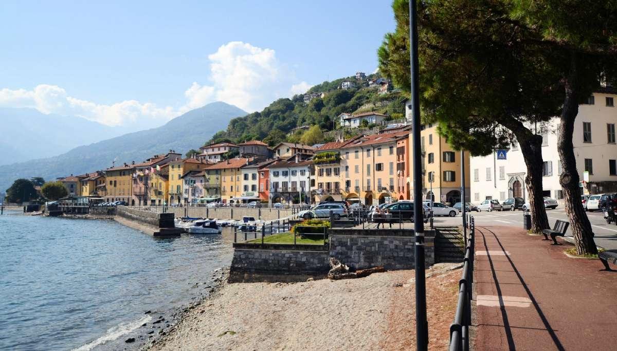 The promenade in Domaso