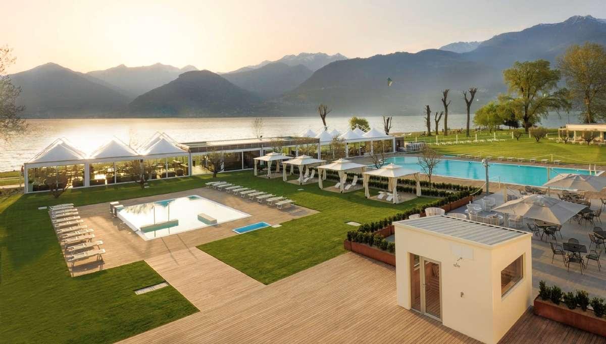 Seven Park Hotel badet i gyllene ljus