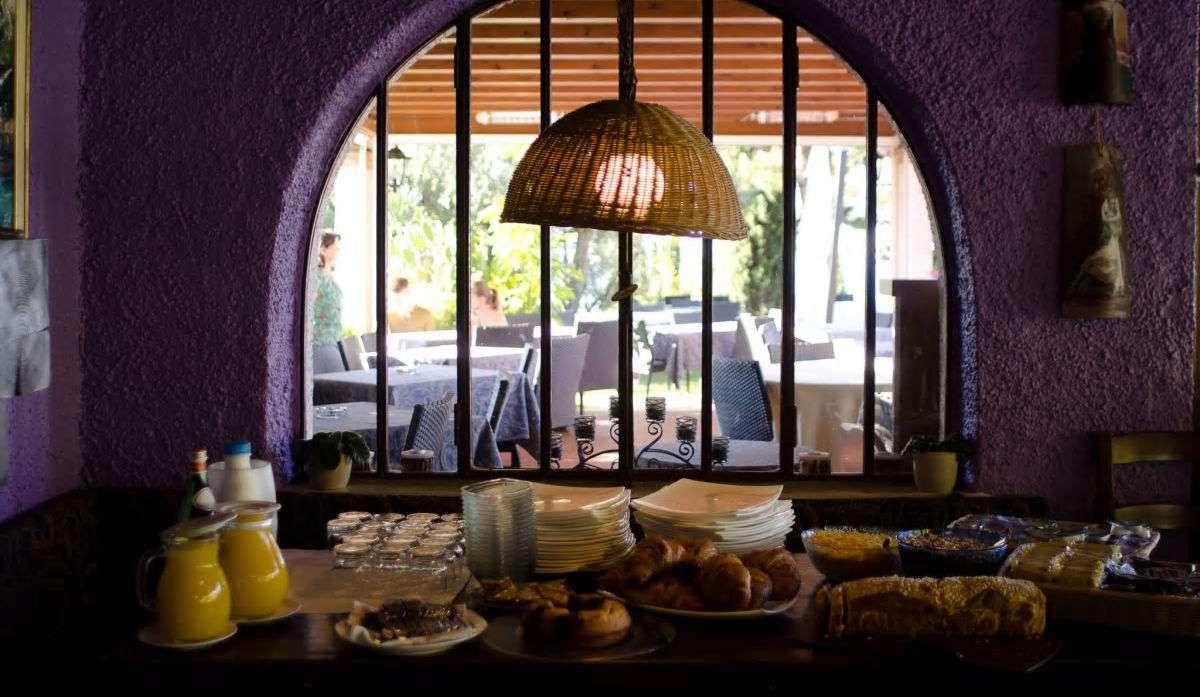 Frukostbuffé på Residence San Michele